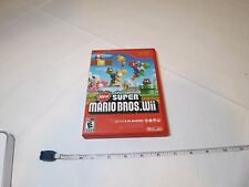 New Super Mario Bros. Wii (Nintendo Wii, 2009) video game MARKS everyone USED