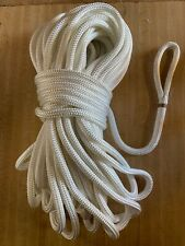 """1/2"""" x 125 ft.Double Braid Polyester Rope w/6 inch eye. White"""