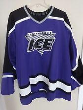 Vintage Defunct Indianapolis Ice CHL Minor League Hockey Jersey Men XL by Bauer