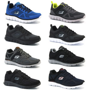 MENS SKECHERS TRAINERS CASUAL SPORTS MEMORY FOAM RUNNING GYM WALKING SHOES SIZE