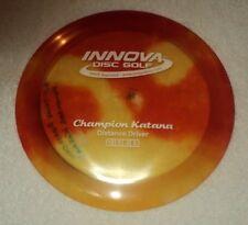 Innova Champion Katana 175g Red Yellow Distance Driver Disc Golf