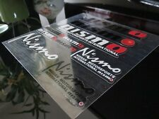 NISMO CLEAR STICKER DECAL WHEEL BADGE SILVIA 300ZX 350Z STAGEA RB20 RB25 RB26