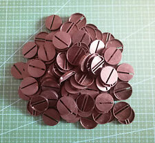 Lot-Of-100-25mm-Round-Slot-Bases-For-wargames-table games