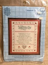 Designs By Gloria & Pat Daughter In Law Counted Cross Stitch NIP Janlynn  14x16
