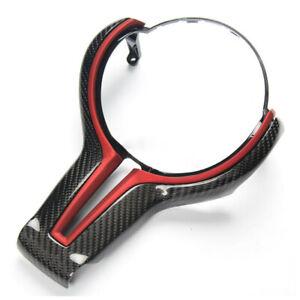 Carbon Fiber Red Steering Wheel Trim Fit For BMW M2 M3 M4 M5 M6 X5M X6M Use