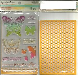 Recollections Color Splash Stamp & Stencil Set Fly High #108