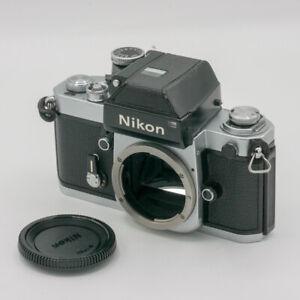Nikon F2 Silber + DP-1 Photomic Eye-Level Viewfinder 35mm Analog SLR Kamera