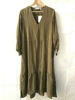 & Other Stories ® Khaki Green Long Sleeved Kaftan - EU 36 - New - RRP = £79.00