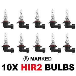 Toyota Auris 10 x HIR2 9012 HEADLAMP HEADLIGHT E MARKED CAR BULBS 12v 55w PX22D