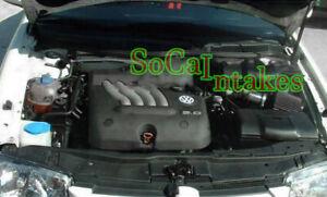 Black  Air intake system Kit For 1999-2005 Volkswagen Beetle 1.8L 1.9L 2.0L 2.8L