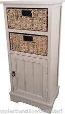 Grigio Nebbia 1 PORTE 2 Cesto di vimini bagno camera da letto armadio portaoggetti assemblato