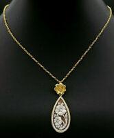 collana autentico cammeo a goccia argento GIOIELLO ITALIANO collarino pendaglio