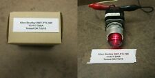 Allen Bradley 800T-Ptl16R Illuminated Push To Test pilot light 120V red lens
