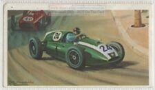1959 Morocco Grand Prix Brabham Cooper Race Vintage Trade  Ad Card