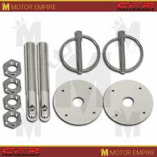 Ring 1/2 x 4 Steel Pin Scuff Plate 2x Silver Aluminum Hood Pin Kit 1/4 Flip Over