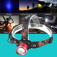 11000LM BORUiT Zoomable XM-L T6 LED Headlight Flashlight Head Lamp AA Battery
