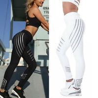 Women High Waist Yoga Leggings Fitness Trousers Stretch Pants Running Gym Sport