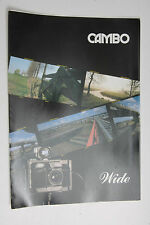 Cambo Wide Camera Advertising Brochure Pamphlet Fold-Out - English - USED B97
