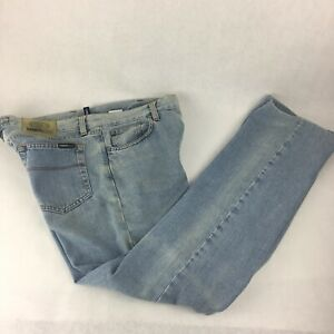 CERRUTI  Blue Cotton Denim Mens Jeans Straight W32 L32 Very Good