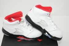 Nike Air Jordan 5 Fire Red Silver Tongue (TD) size 8c- BRAND NEW The Last Dance