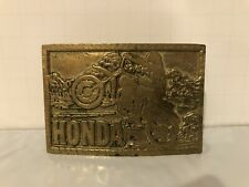 Vintage Honda Motorcycle Belt Buckle Solid Brass R.O.C #768 Approx 3""