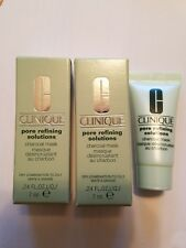 2 Clinique Pore Refining Solutions Charcoal Mask 7ml New In Box Trial Size