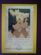 POSTCARD LONDON TRANSPORT POSTER 1933 - COUNTRYSIDE BUS SERVES 8 COUNTIES