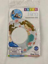 "24"" INTEX INFLATABLE SWIMMING RING, print Blue Mermaid"