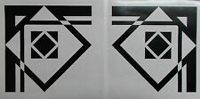 Pair of Art Deco Style Glossy Black Corner Wall Decals Decoration (25-08)