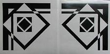 COPPIA di stile Art Deco Nero Lucido angolo adesivi murali decorazione (25-08)