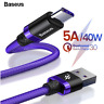 Baseus USB-C Type-C 3.1 40W 5A Quick Charger Fast Charging Data Sync Cable Cord