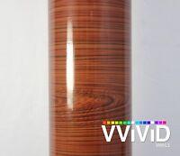 VViViD Gloss Red Cedar Wood Grain Vinyl Wrap Decal