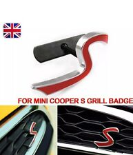 MINI Cooper Red 'S' 3D Metal Front Grill Badge Emblem Excellent Quality UK Stock