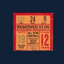 1949 College football All-Stars vs Philadelphia Eagles football ticket stub