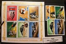Korea DPRK  MiNr. 1790-1794 Marken und Kleinbogen Vögel/Spechte 1978 gest. (Kl)