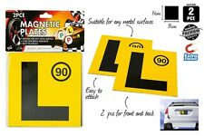 2pcs Driver Magnetic yellow Speed limit 90 L Plates Brand New