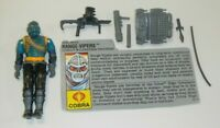 1990 GI Joe Cobra Wilderness Troopers Range Vipers v1 Figure File Card *Complete