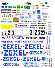 #2 NISSAN GT-R ZEXEL 1995-98 1/25th - 1/24th Scale WATERSLIDE DECALS