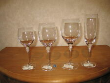 CRISTAL DE SEVRES *NEW* CHENIER Set 4 Verres Glasses