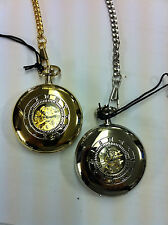 Half Hunter Mechanical Hand Winding Pocket Watch with Free Engraving