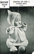 Baby DOLL Knitting pattern per bambola 12 in (ca. 30.48 cm). copia laminato. (V Bambola 153)