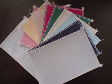 12 sq OF 6in x 4in OVER LOCKED 14ct AIDA 12 colours IDEAL 4 CARD MAKING  ANCHOR