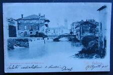 Cartolina d'epoca Padova -  Bacchiglione - postcard - 1901