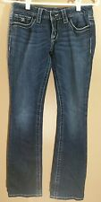D9 Juniors Slick Boot Cut Jeans 25 x 30 Distressed Embellished Back Pockets