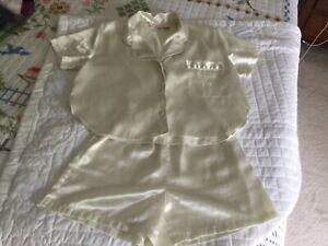 Victorias Secret Vintage 2 Piece Satin Shorts Pajama Lingerie Set Small Ivory