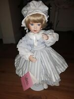 Paradise Galleries Porcelain 1996 Doll With Stand