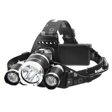 headlamp front 3 led USB rechargeable - 18650 batteries included - bike outdoor