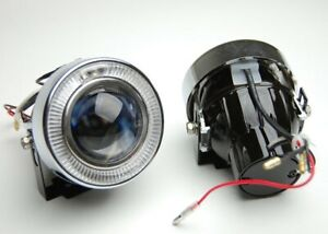 Car Angel Eye Projector Fog Light Lens Kit Halo White HALO LED Lamp Meta