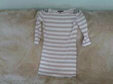 Womens Size 10 - Beige & Cream Striped Stretch Dress - Rare