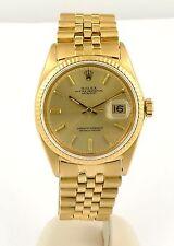 Vintage 1969 18k Gold Rolex Datejust Watch ref 1601 on Original Jubilee Bracelet